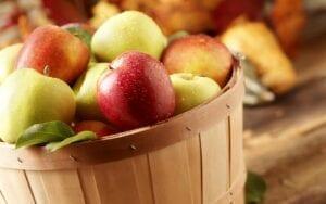 freshly picked New York State apples