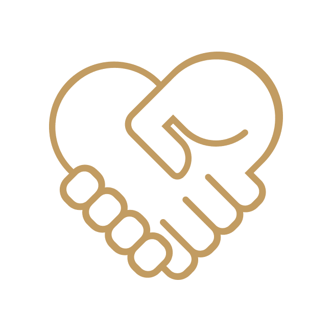 Hands Holding - Gold Icon