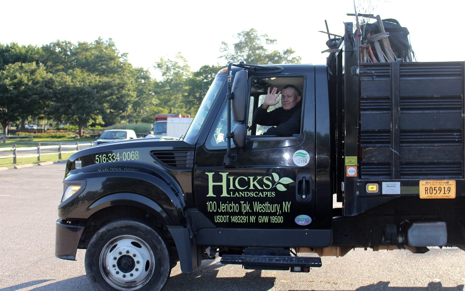 Hicks Delivery Truck with Team Member Driving