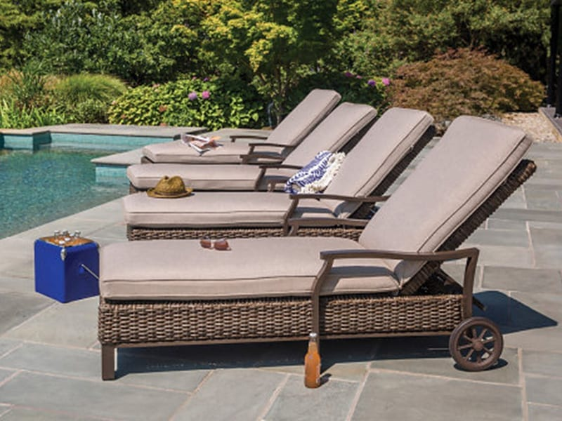 Chaise Lounges poolside
