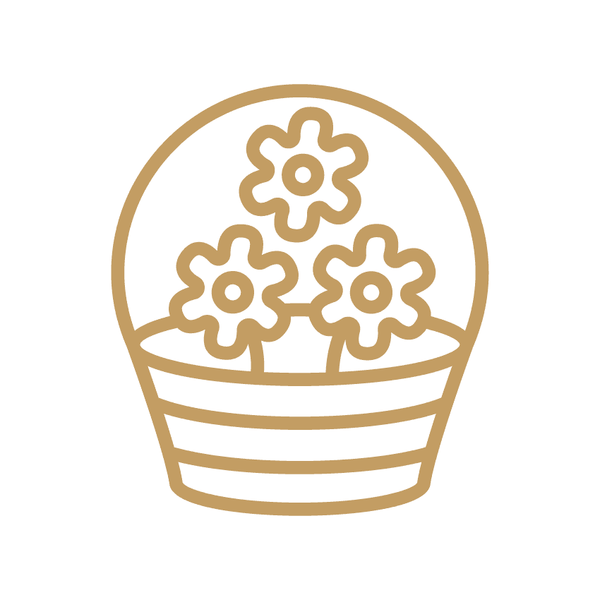 Flower Basket - Gold Icon