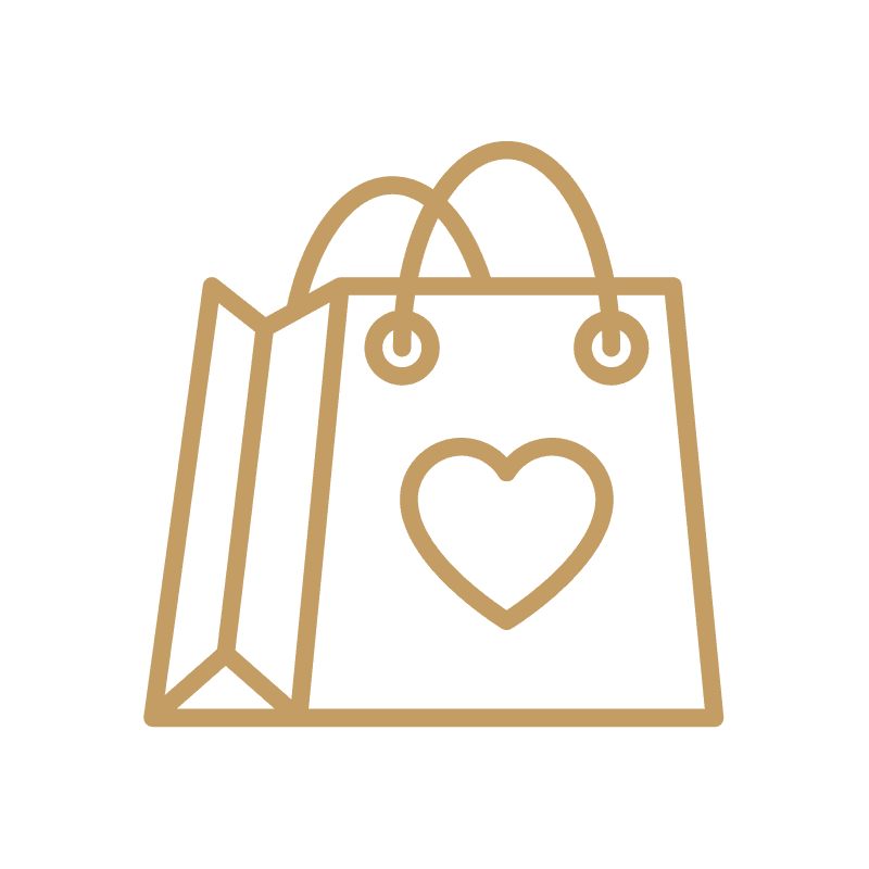 Shopping Bag - Gold Icon