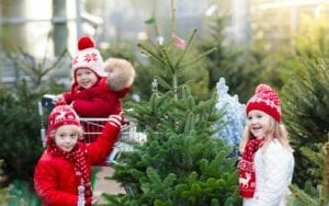 Children with a Christmas Tree