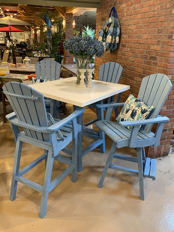 Tall Chairs and Table - Patio bar Seating