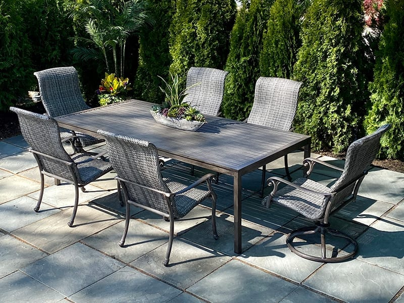 DELMAR WICKER DINING SET